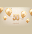 50th anniversary celebration vector image vector image