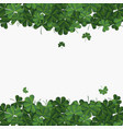abstract patrick day background with clover vector image