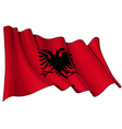 Albania Flag vector image vector image