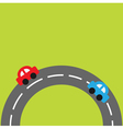 Background with round on the bottom road cars vector image