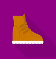 boot icon flat style vector image vector image