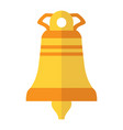 bright church bell isolated vector image