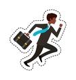businessperson running avatar icon vector image