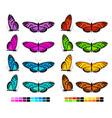 butterfly set 2 vector image