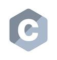c programming language emblem vector image vector image