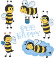Cartoon Bees set