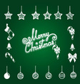 Christmas tree decorations set vector image vector image