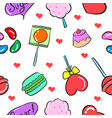 collection stock of sweet candy doodles vector image vector image