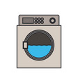 color image of wash machine in process vector image vector image