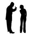 conflict between father and teenage daughter vector image vector image