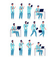 doctor male healthcare medical person at work vector image