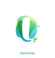 ecology lowercase letter l logo overlapping vector image vector image