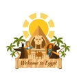 Egypt label vector image