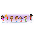 excited multiracial boys and girls having fun vector image