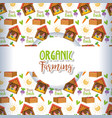 farm fresh background vector image