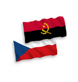 flags czech republic and angola on a white vector image vector image