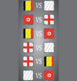 football championship flags group g vector image