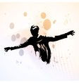 guy spread his arms vector image