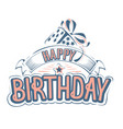 happy birthday greeting card with a beautiful insc vector image vector image
