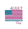 happy independence day - fourth of july vector image vector image