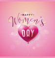 happy womens day greeting card international vector image vector image
