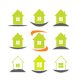 House icon set Real estate logo template vector image