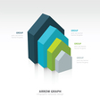 infographic and presentation template 4 color vector image vector image