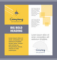 light company brochure title page design company vector image