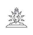 lighthouse line icon concept lighthouse vector image vector image