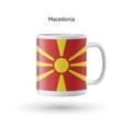 Macedonia flag souvenir mug on white background vector image vector image