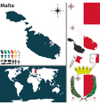 Malta map vector image