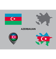 Map of Azerbaijan and symbol vector image