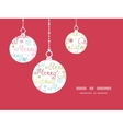 merry christmas text holiday ornaments silhouettes vector image