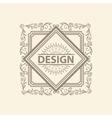 Monogram luxury logo template vector image vector image