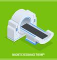 mrt machine for magnetic resonance imaging in vector image vector image