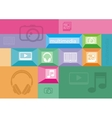 Multimedia icons of user interface elements vector image