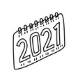 new calendar icon doodle hand drawn or outline vector image