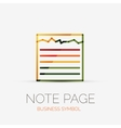 Note page company logo business concept vector image