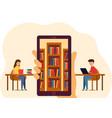 online education for website or mobile website vector image