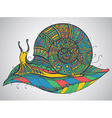 ornamental snail with a lot of detail vector image vector image