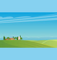 panorama italian landscape vector image vector image