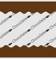 pattern chocolate background vector image vector image
