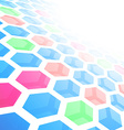 Perspective hexagon abstract tile background vector image vector image