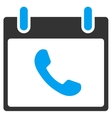 Phone Calendar Day Toolbar Icon vector image vector image