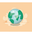 planet earth isolated icon vector image vector image