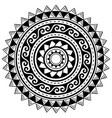 polynesian geometric mandala pattern hawaii vector image vector image