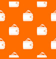 purse with money pattern seamless vector image vector image