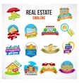 Real Estate Emblem Set vector image