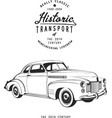 retro coupe with logo monogram graphic vintage vector image