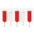 row of red and white vertical royal flags vector image vector image